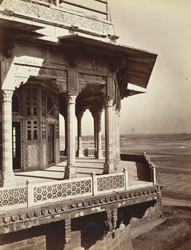 Balcony [Samman Burj] in the palace, Agra Fort.